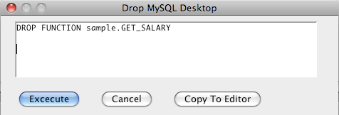 MySQL Drop Function