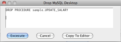 MySQL Drop Procedure