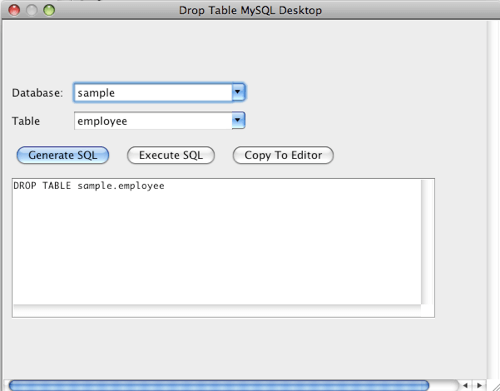 how to get drop table in mysql