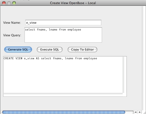 OpenBase Create View