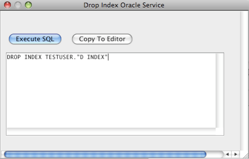 Oracle Drop Index