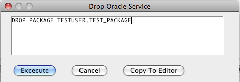 Oracle Drop Package