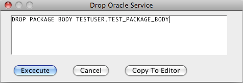 Oracle Drop Package Body