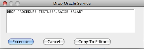 Oracle Drop Procedure