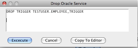 Oracle Drop Trigger