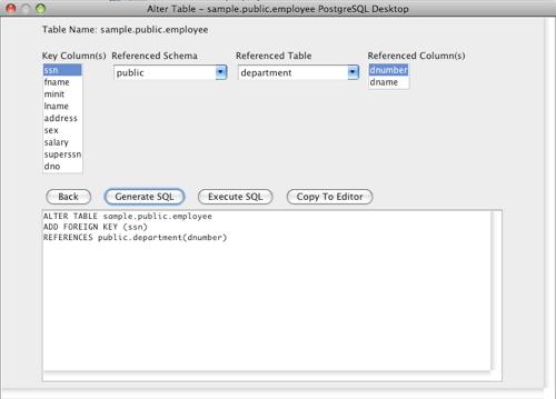 PostgreSQL Alter Table