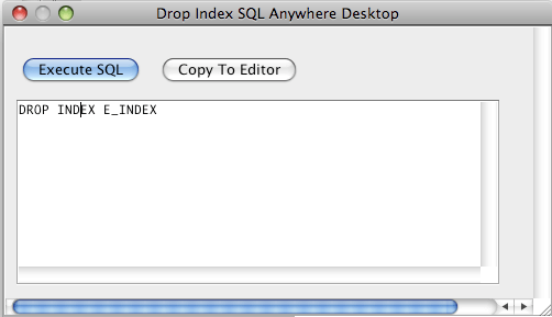 SQL Anywhere Drop Index