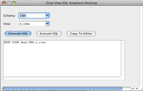 SQL Anywhere Drop View