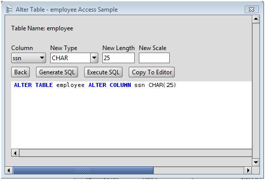 MS Access Change Column Type