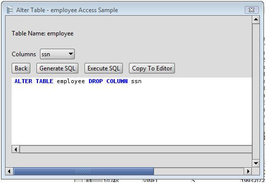 MS Access Drop Column from a MS Access Database Table via