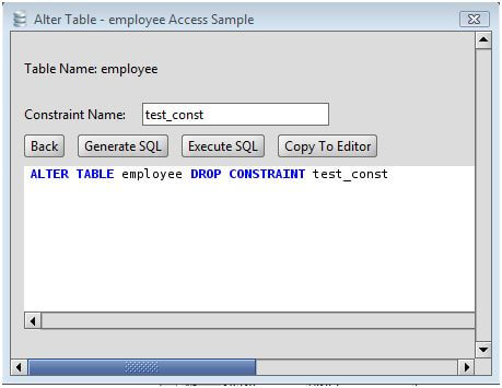 MS Access Drop Constraint