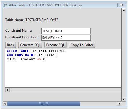 Db2 add constraint to db2 database tables via the alter table command - Alter table drop constraint ...