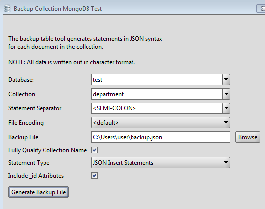 MongoDB Collection Backup Tool