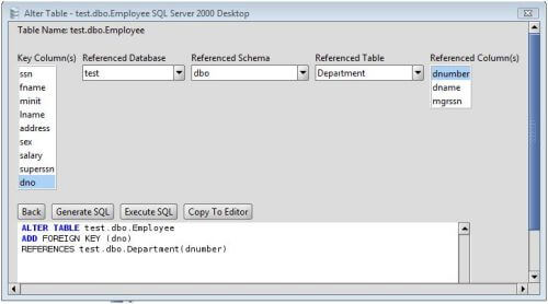 MS SQL Server Add Foreign Key