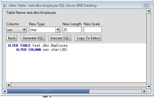 MS SQL Server Change Column Type