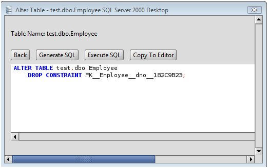 MS SQL Server Drop Foreign Key