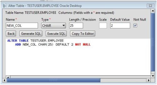 Oracle add column to oracle database tables via the alter table command - Alter table modify column ...