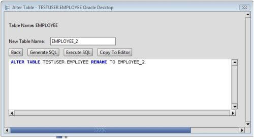 Oracle Rename an Oracle Database Table Using the Alter Table Command