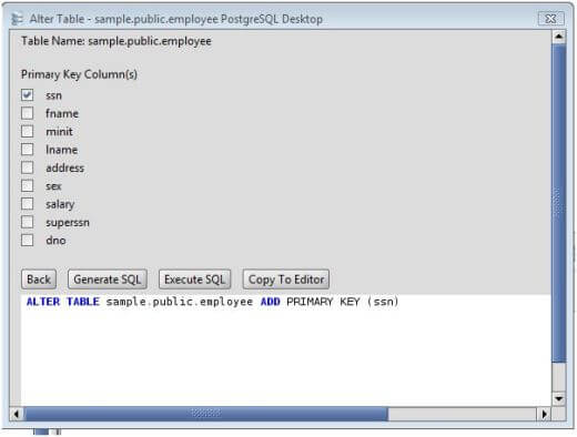 Postgresql Add Primary Key To Postgresql Database Tables Via