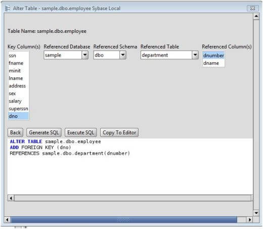 Sybase Add Foreign Key
