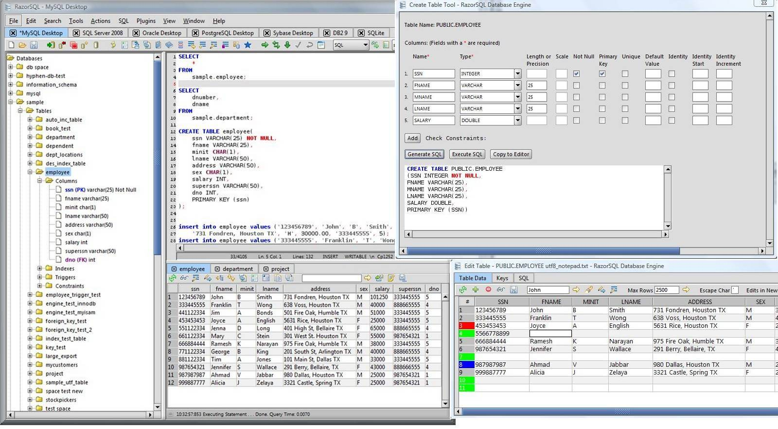 Razorsql sql query tool and sql editor for mac windows and linux linux ccuart